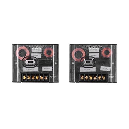 Divisor de frecuencia de Audio, Carcasa de plástico ABS, Condensador de Alta frecuencia, Altavoz disipador de Calor, Divisor de frecuencia para Sistema de Sonido de Coche