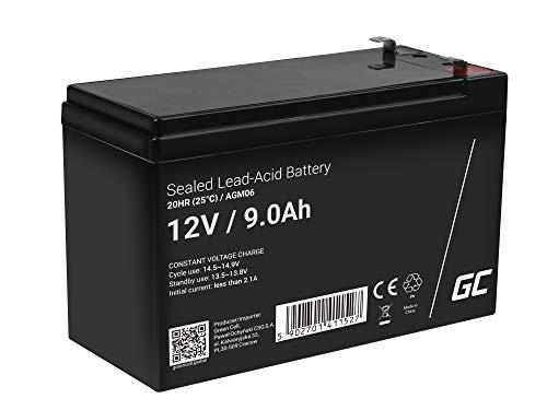 Green Cell® AGM 12V 9Ah Akku VRLA Blei-Batterie Bleiakku Ersatzakku Gelakku Akkubatterie Zyklenfest Unbemann UPS | USV | Notstrom | USV-Anlage |UPS -Anlage | Backup-Batterie | Batteriebackup