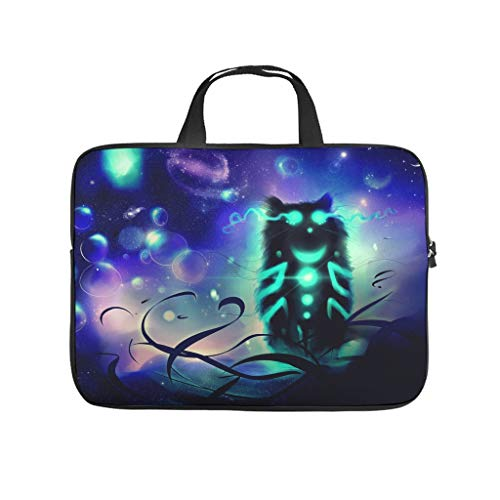 Alice in Wonderland Cheshire Cat Laptop Bag Wear-resistant Protective Case for Laptops Pattern Notebook Bag for University Work Business