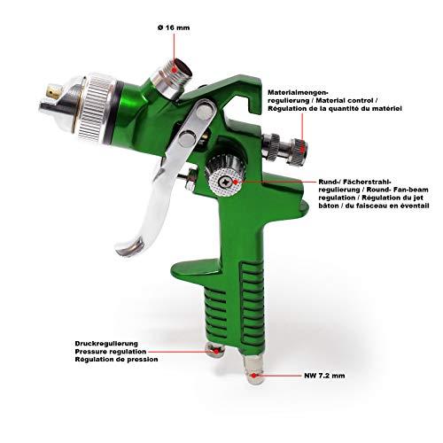 WilTec Pistolet à Peinture Professionnel HVLP 827A1 avec buse de 1,4 mm