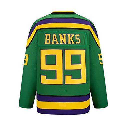 Gmjay Adam Banks # 99 Mighty Ducks Eishockey Movie Hockey Trikot S-XXXL,XXXL