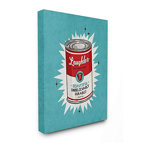 Preisvergleich Produktbild Stupell Industries Canned Laughter Funny Vintage Comic Book,  Design by Artist Ester Kay Wandkunst,  Canvas,  16x20