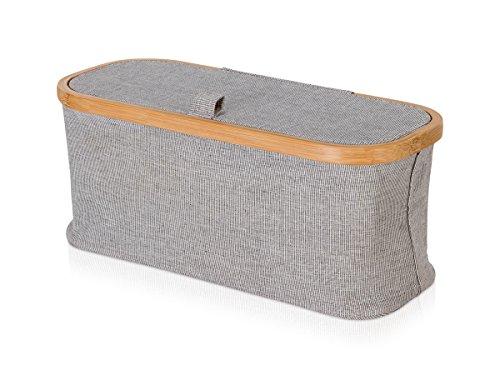 Möve Bamboo Aufbewahrungsbox, grau, 38 x 16 x 15,5 cm