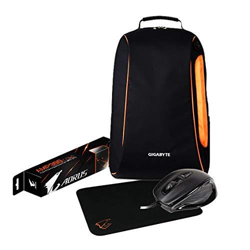 Gigabyte 9JP37XV6-BAGWW-40 Bonus-Pack 43,2 cm Rucksack, M6880X Gaming-Maus und MP 100 Mauspad