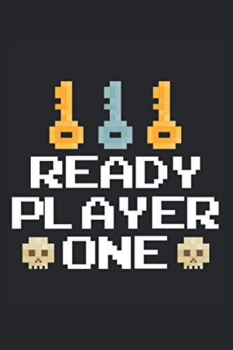 """Ready Player One: Funny Gamer Notebook Journal, Pixel Gaming Gift, Classic Game Notebook / Lined Journal / 120 Pages / 6"""" x 9"""" / Matte Cover Finish"""