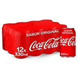 Coca-Cola Sabor Original - Refresco de cola - Pack 12 latas
