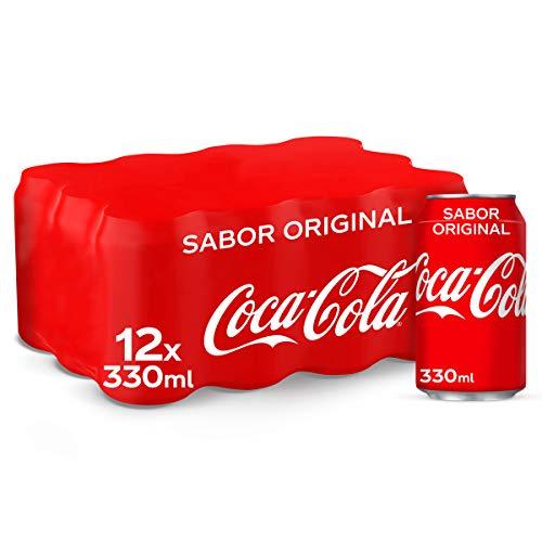Coca-Cola Sabor Original - Refresco de cola - Pack de 12 latas, 330 ml