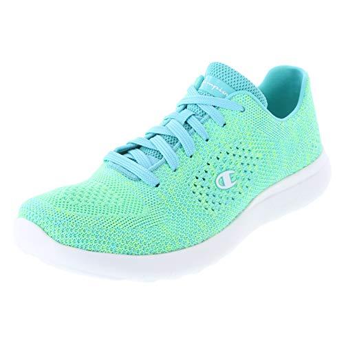 Champion Lime Blue Women's Activate Power Knit Runner 10 Regular