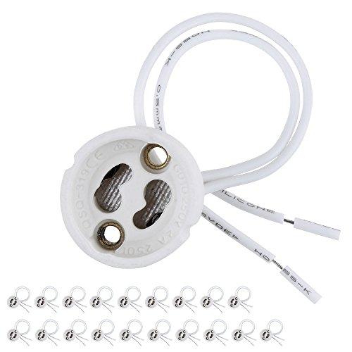 Zacro 20 Pieces/Pack Portalámparas Blancas para Bombillas GU-10