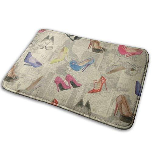 Liuqy Universal Anti SlipDoor Mat,Entrance Outdoor Indoor Welcome Mat,Rectangular Anti Slip Doormat High Heels