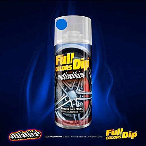 AutoFullCar Spray Pintura para Pinzas DE Freno ANTICALÓRICA ACRÍLICA Permanente FULLCOLORS by Full Dip (Azul Miami)