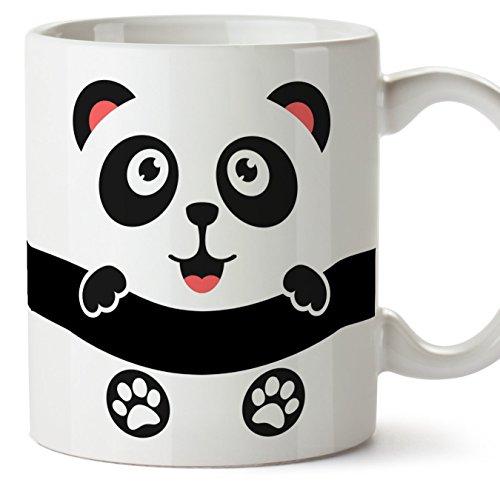 MUGFFINS Oso Panda Tazas Originales de Desayuno - Animales Graciosos Ideas para Regalos - Cerámica 350 ml