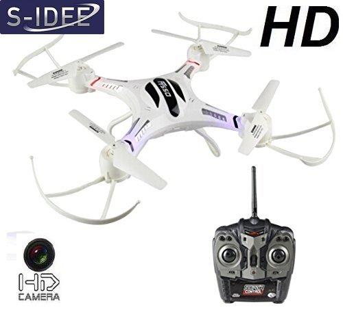 s-idee 01186 S550C - Quadricottero con Telecamera HD, radiocomandato, 4,5 canali
