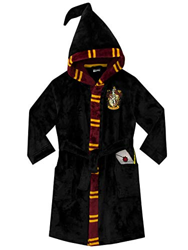 Harry Potter Girls Dressing Gown Black 10-11 Years