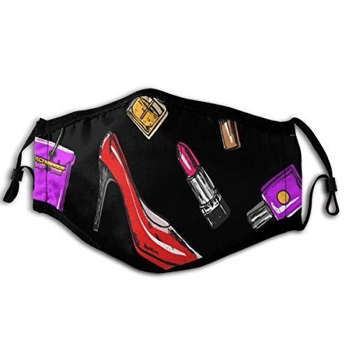 N/A stofmasker hoge hak tas patroon zacht en comfortabel, winddicht en stofdicht, geschikt voor iedereen dagelijks dragen