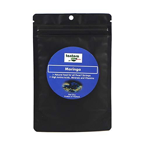 Tantora Moringa Sticks 25gr Garnelen fütter Natürliche Carotinoide unterstützen eine Starke Färbung der Tiere.