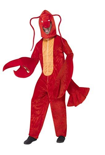 Smiffys, Herren Hummer Kostüm, Bodysuit mit Kopfteil, One Size, 40091