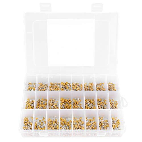 HALJIA 15Value 450pcs Ceramic Capacitor Monolithic Multilayer Ceramic Chip Capacitors Components Assortment Box Kit 10pF//20pF//30pF//47pF//56pF//68pF//100pF//200pF//300pF//680pF//1nF//4.7nF//10nF//47nF//100nF