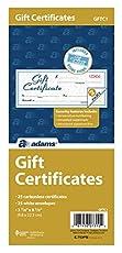 Image of Adams Gift Certificate. Brand catalog list of Adams.
