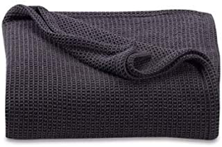 Kenneth Cole Reaction Home Waffle King Blanket in Black