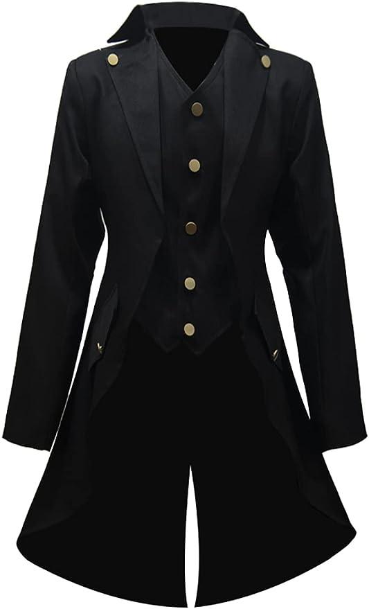 Men's Steampunk Jackets, Coats & Suits Lioop Mens Steampunk Vintage Tailcoat Jacket Gothic Victorian Frock Coat Uniform Halloween Costume  AT vintagedancer.com