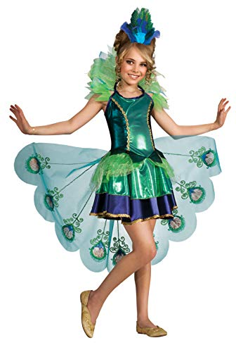 Costume Peacock Ta.104/116 fille robe bel oiseau Carnaval