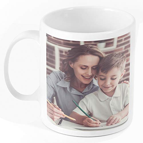 Custom Coffee Mugs w Photo Customized Large Coffee Mug Add Photo, Logo, Picture or Text on Personalized Coffee Mug Ceramic Mothers Day Christmas Photo Mug Mom Dad and Office Tazas Personalizadas 11oz