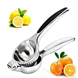 DLILI Exprimidor de limón: exprimidor de cítricos, exprimidor de limón, diseño Robusto, anticorrosión, Mango Antideslizante, Jugo más rápido y más eficiente