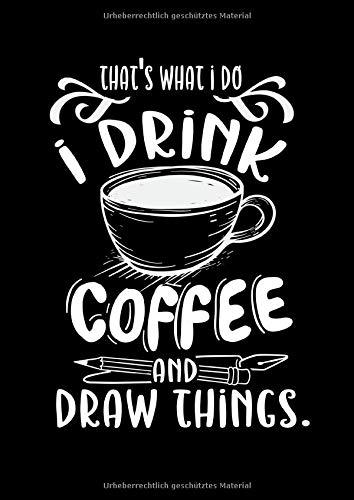 Notizbuch: Kaffee Malen Zeichnen Barista Künstler Geschenk 120 Seiten, A4, Karomuster, Kariert