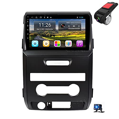 9'Android 10 Navegación GPS Car Stereo DIN Radio Reproductor De Video Multimedia para Ford Raptor F150 2009-2014 Soporte Bluetooth Control del Volante USB WiFi FHD Das(Size:8 Core,Color:WiFi 4G+64G)