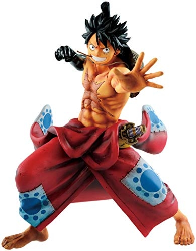 Anime One Piece Figure Luffy Land of Wano Country Monkey D Luffy Action Figure PVC Collection Modèle Jouets 21Cm