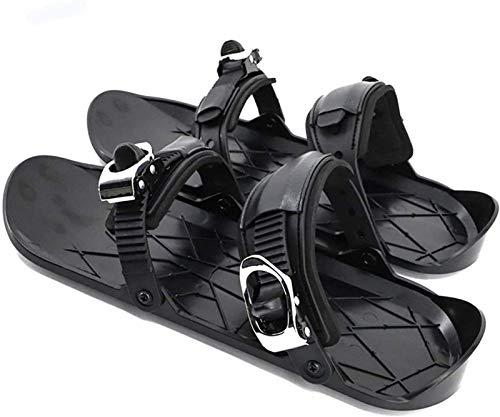 ZJWD Skiboard Snowblades, Mini Zapatos De Esquí, Esquí Al Aire Libre Equipo De Deportes De Invierno, Paneles Antideslizantes para Los Pies Botas De Esquí, Versión Mejorada Mini Tabla De Nieve