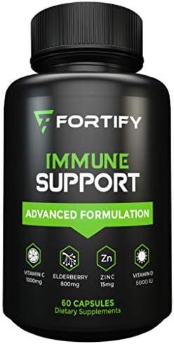 Immune System Booster Antioxidant Supplement Elderberry Capsule with Vitamin C Vitamin D Zinc product image