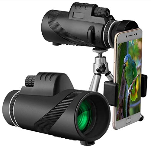 Psycker Monokular Starscope 40x60 High Power HD Monokular Teleskop mit Smartphone Halter Stativ, BAK4 Prism & FMC Low Light Nachtsicht Monokular für Vogelbeobachtung Camping Reisen