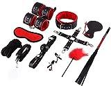 N\A Nolverty Leather Pure Red.Kit de Accesorios Deportivos Negros Juego de 12 Piezas