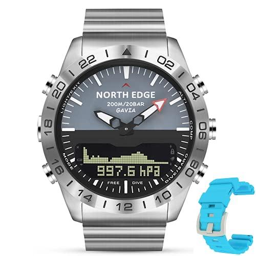 WJJ Relojes Deportivos Al Aire Libre, Relojes Inteligentes De Negocios para Hombres con Función De Retroiluminación De Brújula De Medición De Altitud/Presión Barométrica/Temperatura,Verde