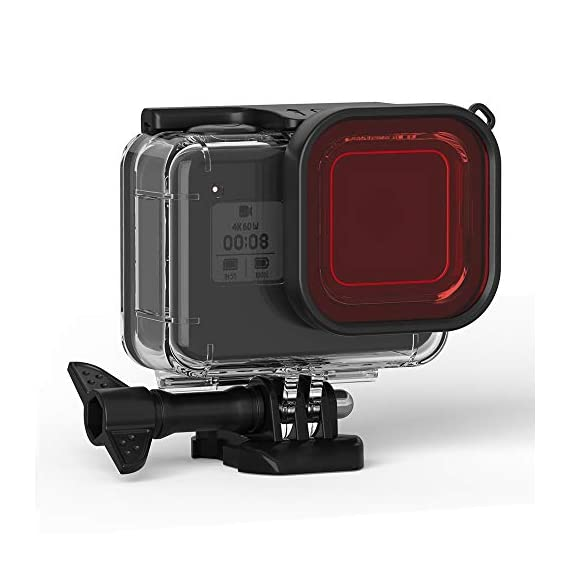 FitStill Double Lock Waterproof Housing for GoPro Hero 2018/7/6/5 Black, Protective 45m Underwater Dive Case Shell with… 7 【LIFE-TIME Warranty】 30-Day money back guarantee, LIFE-TIME Warranty and friendly 7 x 14 hours customer service. Note: Touch screen will be disable while using this Dive housing GoPro HERO 5/6 Black Waterproof Housing Case, Underwater Dive Case Shell with Bracket Accessories
