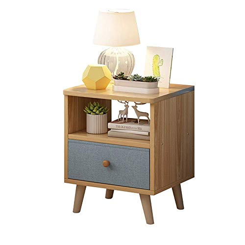 ZGQA-GQA Wood Nightstand with Drawers - Bedroom Night Stand End Table Cabinet for Storage, Side Table for Small Spaces, Wood Look Accent Furniture Simple Frame Corner table