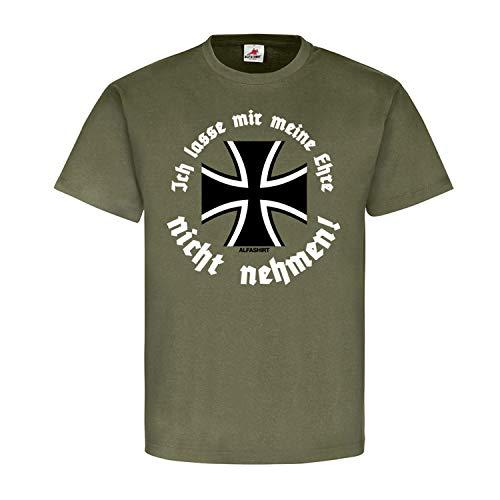 Copytec BW Soldat Ehre Bundeswehr Tradition Eisernes Kreuz Skandal Verbot Deutschland Bund Fallschirmjäger Stolz Leyen #21837, Größe:L, Farbe:Oliv