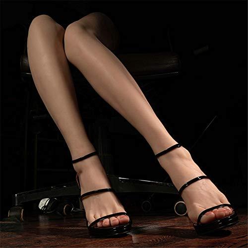 AFYH Silikon Mannequin Fuß, High-End-Platin schöne Füße und Silikon schöne Beine Modell, echte Maßstab 1: 1 Reproduktion, sehr realistische Sicht,Left Leg