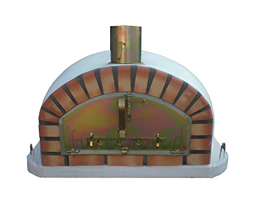 Outdoor Brick Pizza Oven 90 x 90cm Wood Fired Bread, Meat Margherita Garden Barbecue