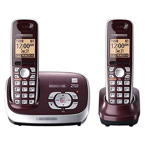 ZYFA Teléfono Fijo Botton Big DECT CANTERNE INDIBLE Tele TELÉFONO, Llamada DE TRESIDADES, Antiguos DE INGLÉS/ESPAÑOL EN ESPAÑOL/ESPAÑOL, Modo Eco, UP a Armando 6 ANUJOS (Color : A)