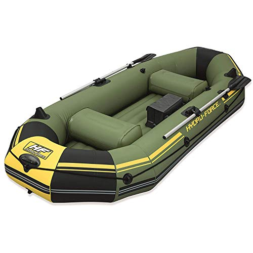 Bestway Hydro Force Marine Pro 115' Inflatable 2 Person Fishing Boat Lake...