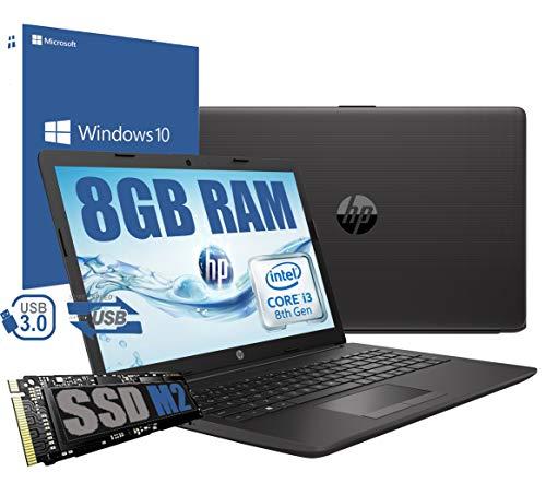 Notebook HP i3 250 G7 Portatile Display da 15.6  Cpu Intel core i3-8130U da 2,3Ghz a 3,4Ghz  Ram 8Gb DDR4  SSD M.2 256GB  VGA INTEL HD 620  Hdmi Rj45 Wifi Bluetooth  Windows 10  Open Office