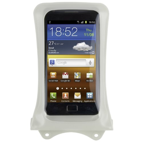 DiCaPac (Digital Camera Pack) WPC1(One) Impermeable Funda para Smartphones Grandes, Blanco - Samsung Galaxy S4 S3, Google Nexus 4, HTC One, HTC DROID DNA, HTC 8X, Sony XPERIA Z, XPERIA TL, MOTOROLA DROID RAZR MAXX, LG Optimus G, NegroBerry Z10