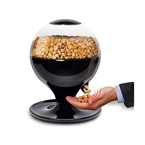 JDH Máquina de Dulces activada por Movimiento, dispensador automático de bocadillos de Dulces sin Contacto de 1000 ml, para chicles pequeños, nueces, bocadillos, Bote de golosinas de fácil llenado