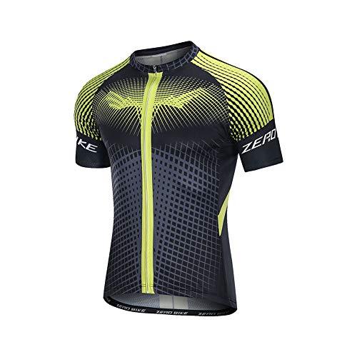 Uomo Abbigliamento da Ciclismo, Traspirante Leggero e Comodo Maglie da Ciclismo, Asciugatura Rapida Maglietta Corta (0008, M)