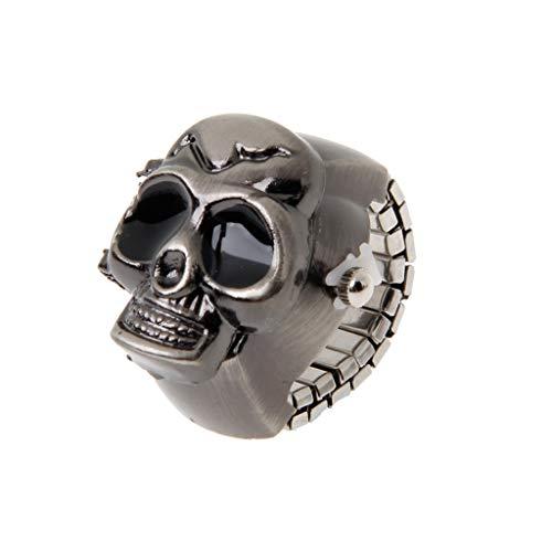 Joocyee Vintage Cool Design Skull Case Flip Cuarzo elástico