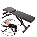 Utilitaire Weight Bench Réglable, Pliable pour Bench Press, Sit-Ups, Levées De Jambe, Full Body Fitness, Noir