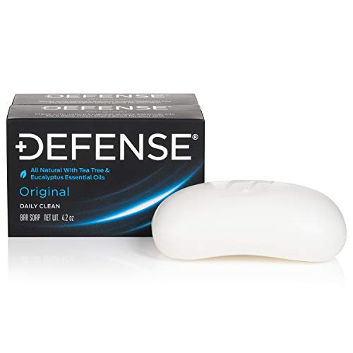 Defense Soap 4 Oz Bar (Pack of 2) - 100% Natural and Herbal Pharmaceutical Grade Tea Tree Oil